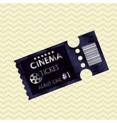 Ticket icon design vector image vector image