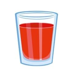Tomato juice glass vector image vector image
