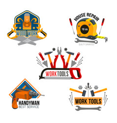 work tool for house repair isolated symbol set vector image vector image