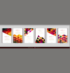 abstract geometric business card set vector image vector image