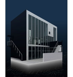 Architecture model house with blueprints vector image