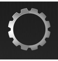 illustration of metal gear vector image vector image