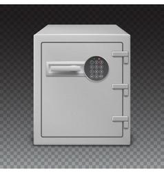 Safe with digital lock sophisticated details vector image vector image