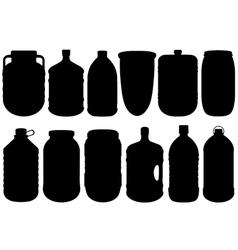 Set of different big bottles vector image vector image