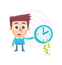 time spent money vector image vector image
