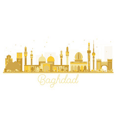 baghdad iraq city skyline golden silhouette vector image vector image