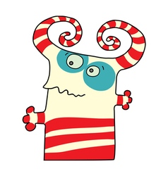 Color funny monsters vector image