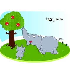 Elephant family vector image
