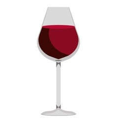 glass of wine graphic vector image