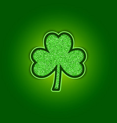saint patricks day background with shiny green vector image vector image