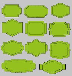 green vintage labels vector image vector image