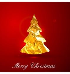 Holiday of a golden metallic foil Christmas vector image vector image