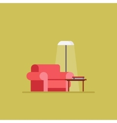 Living room Flat style vector image