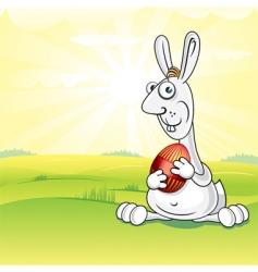 meadow bunny vector image vector image