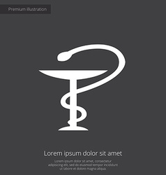 medical sign premium icon white on dark background vector image