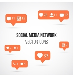 Set of Social Media Network Icons Include vector image vector image