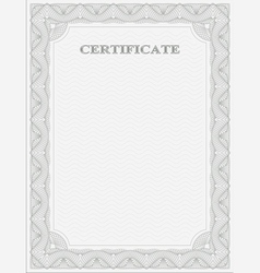 Vertical certificate template vector image vector image