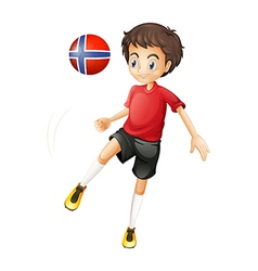 A soccer player from Norway vector