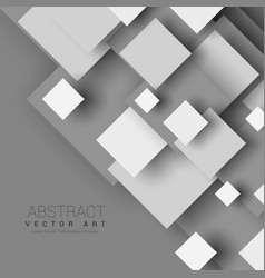 Abstract 3d geometric shapes with shadow effect vector