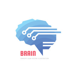 Abstract human digital brain - business vector
