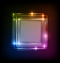 Abstract neon colorful background with squares vector