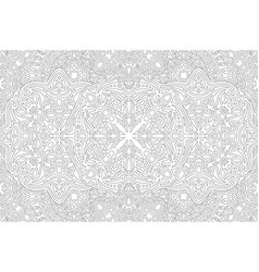 Adult coloring book art with detailed pattern vector