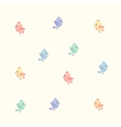 background with colourful birds vector image