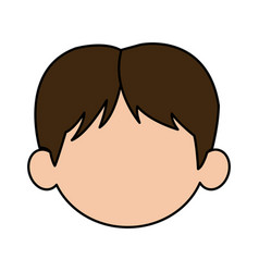 Beautiful little face boy cute child smiling vector