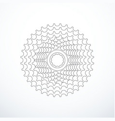 Bike cassette isolated vector