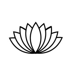 black lotus icon on white background vector image