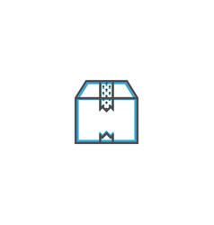 box icon line design business icon vector image
