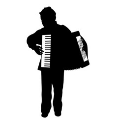 Boy playing accordion vector