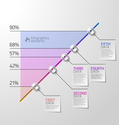 Business diagram infographics element vector image