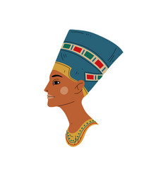 Bust nefertiti symbol ancient egyptian vector