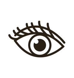 cartoon eye human vision look watch icon vector image