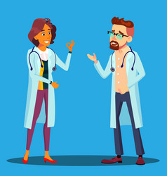 character cardiologist doctor man and woman vector image