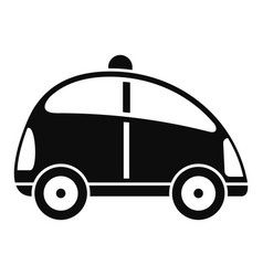 City self driving car icon simple style vector