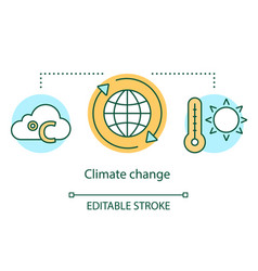 Climate change concept icon global warming vector