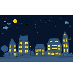 cute street night vector image