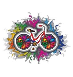 Decorative bicycle vector
