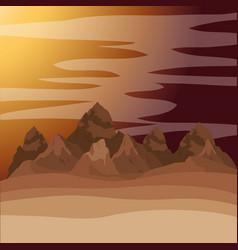 Desert sunset manger scene background vector