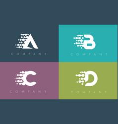 Dots letter dots letters design vector