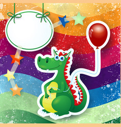 dragon and balloon custom background vector image