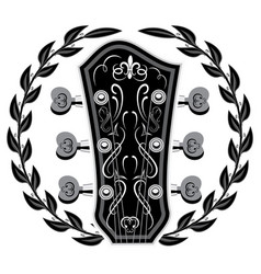 editable template in retro style with guitar head vector image