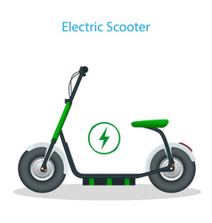 electric scooter with seat on road electric vector image