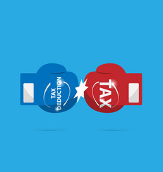 Fighting of blue and red boxing gloves tax vector
