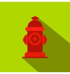 Fire hydrant flat icon vector