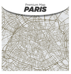 flat light map paris city center on gray vector image