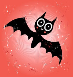 funny bat vector image