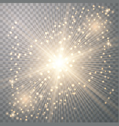 Gold light with sparkle vector